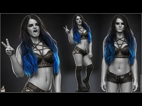 The Undertaker 3d Wallpaper Wwe 2k17 Paige Concept Youtube