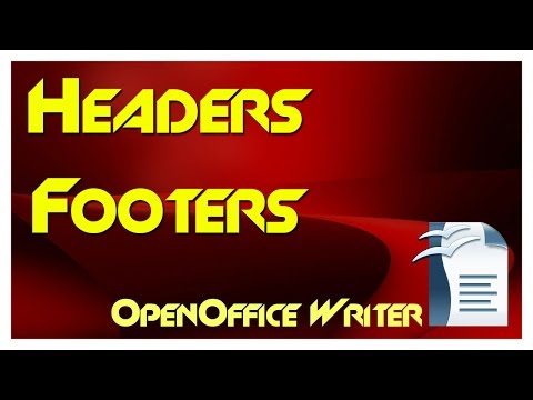 How to Insert Headers and Footers in Open Office - One or Multiple Page Styles