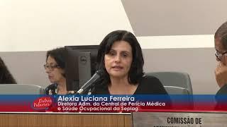 Diretora da Seplag participa da Audiência Pública
