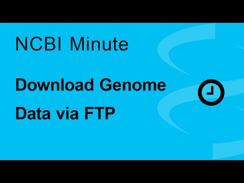NCBI Minute:  Download Genome Data via FTP