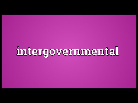 Intergovernmental Meaning