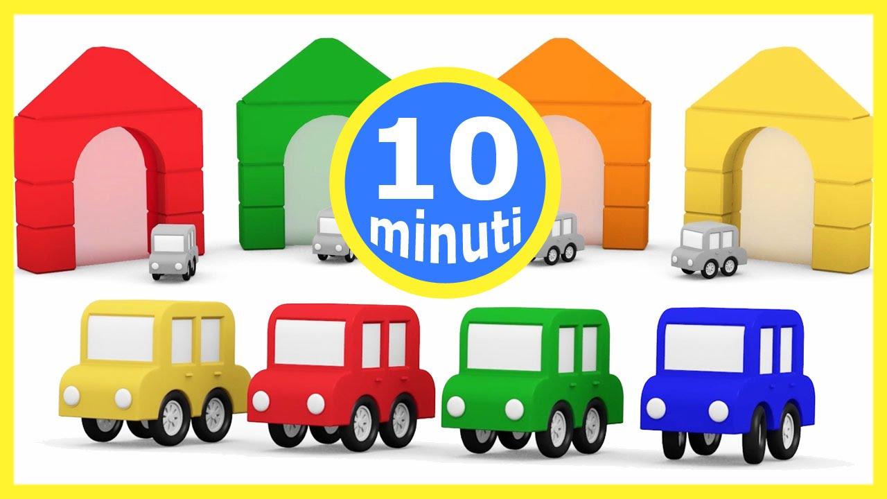 Cartoni animati per bambini macchinine colorate e