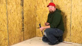 How to Remove Vinyl Asbestos Tiles & Nailed Tack Strips : Flooring Repairs