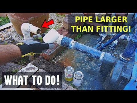 PVC Pipe Larger Than Fitting? Do This!