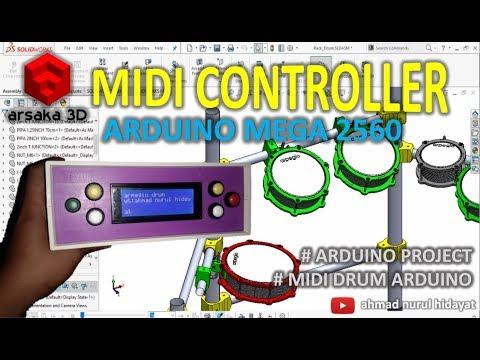 ARPEGIO DRUM - MIDI DRUM ARDUINO - ARDUINO MEGA 2560