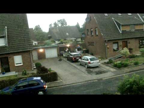 Unwetter (wirbelsturm) in Goch, Marienweg 14.07.2010