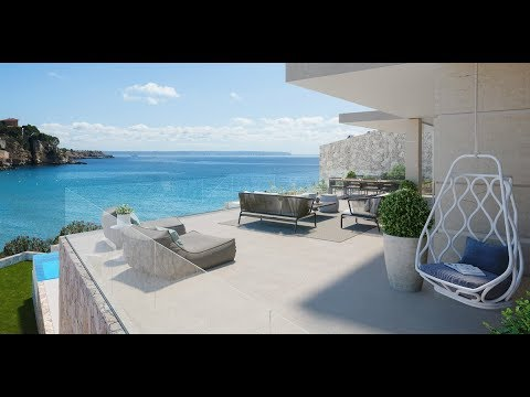 Newly built modern luxury penthouse with sea views and private pool - Luxury Villas Ibiza