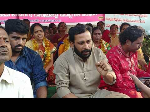Contract Employees agitation in osmania university @support new india party @jpbharat.