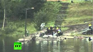 Aerial video: Norway shooting survivors in sea, search for bodies in Utoya