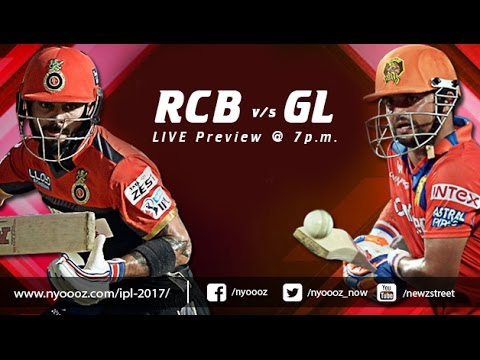 Live IPL T20 Cricket : Royal Challengers Bangalore vs Gujara