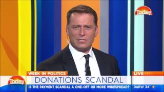 christopher pyne loses his cool at karl stefanovic over dastyari scandal