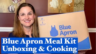 Blue Apron Meal Kit Review  Blue Apron Unboxing and Cooking