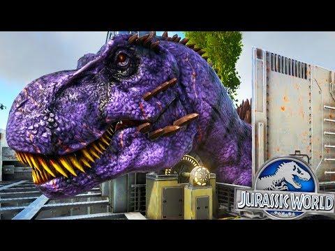 ARK: Jurassic World - OMEGA HYBRID FEEDING CAGE! - (S2E3 Ark Survival Evolved)