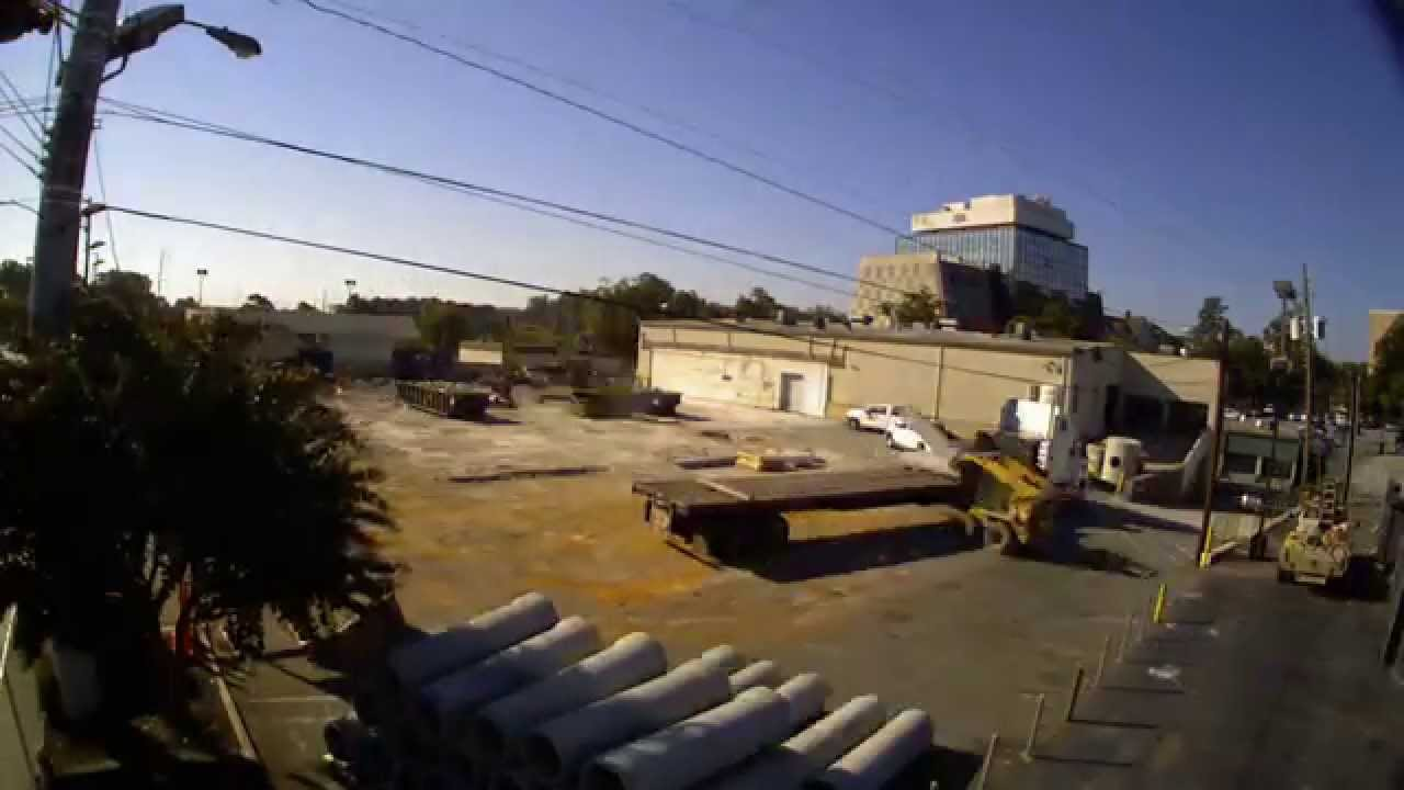 Hennessy Jaguar Land Rover Buckhead Construction Time Lapse October 2014