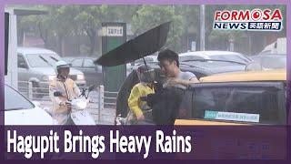 Hagupit dumps heavy rain on Northern Taiwan