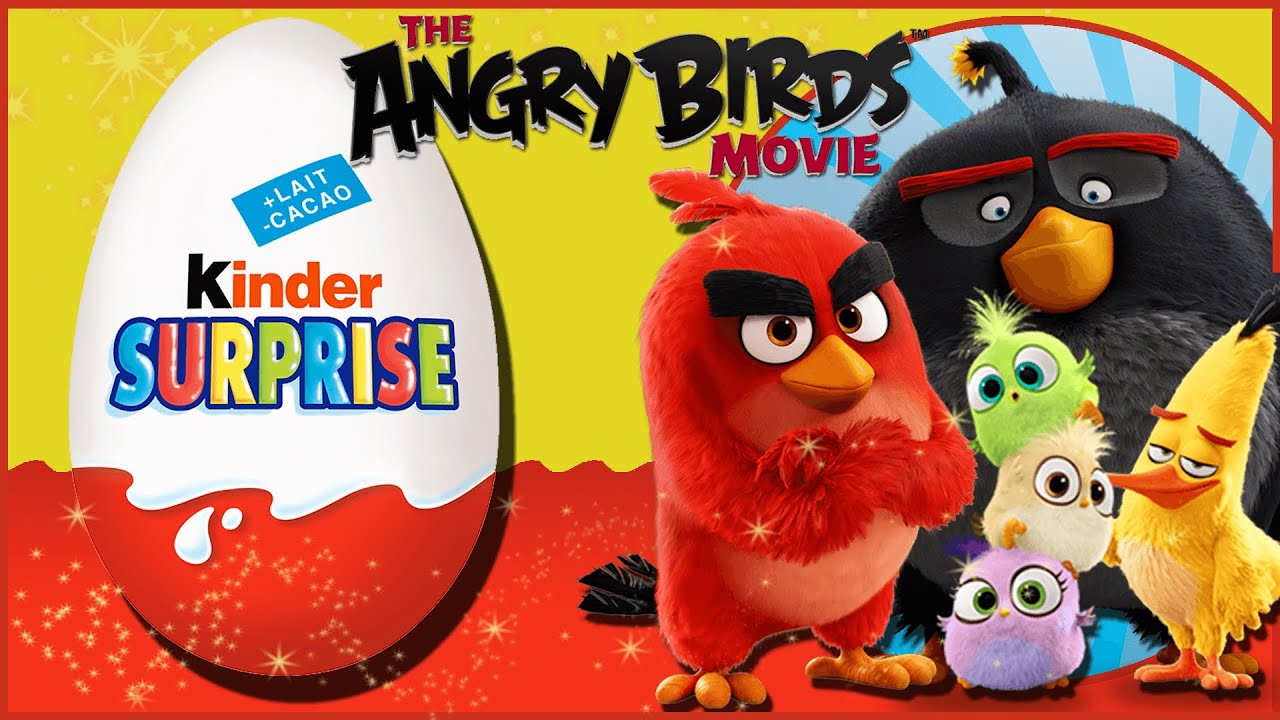 Angry Birds Movie - Kinder Surprise Toy Egg Opening - New Kids TV