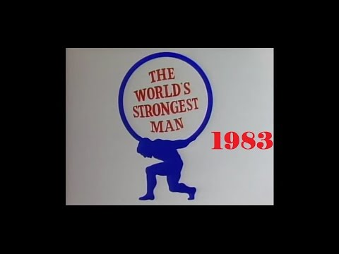 World's strongest man 1983 from Christchurch New Zealand.