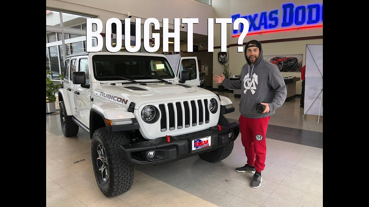 Custom Jeep Rubicon >> DID I REALLY BUY THE NEW JEEP WRANGLER JLU RUBICON 2018 ...