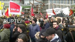 LIVE: Protest against right-wing groups in Hanau in the wake of shooting