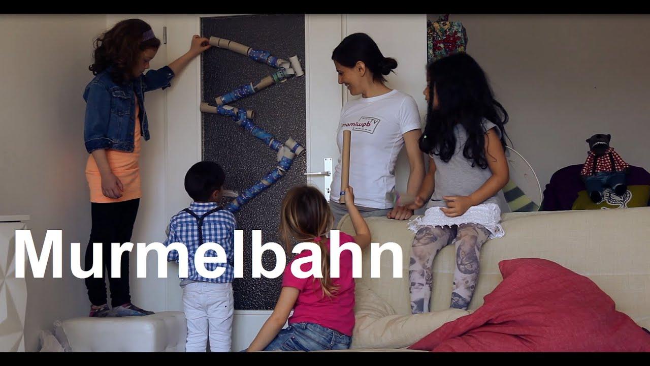murmel bahn selber machen basteln mit kindern von. Black Bedroom Furniture Sets. Home Design Ideas