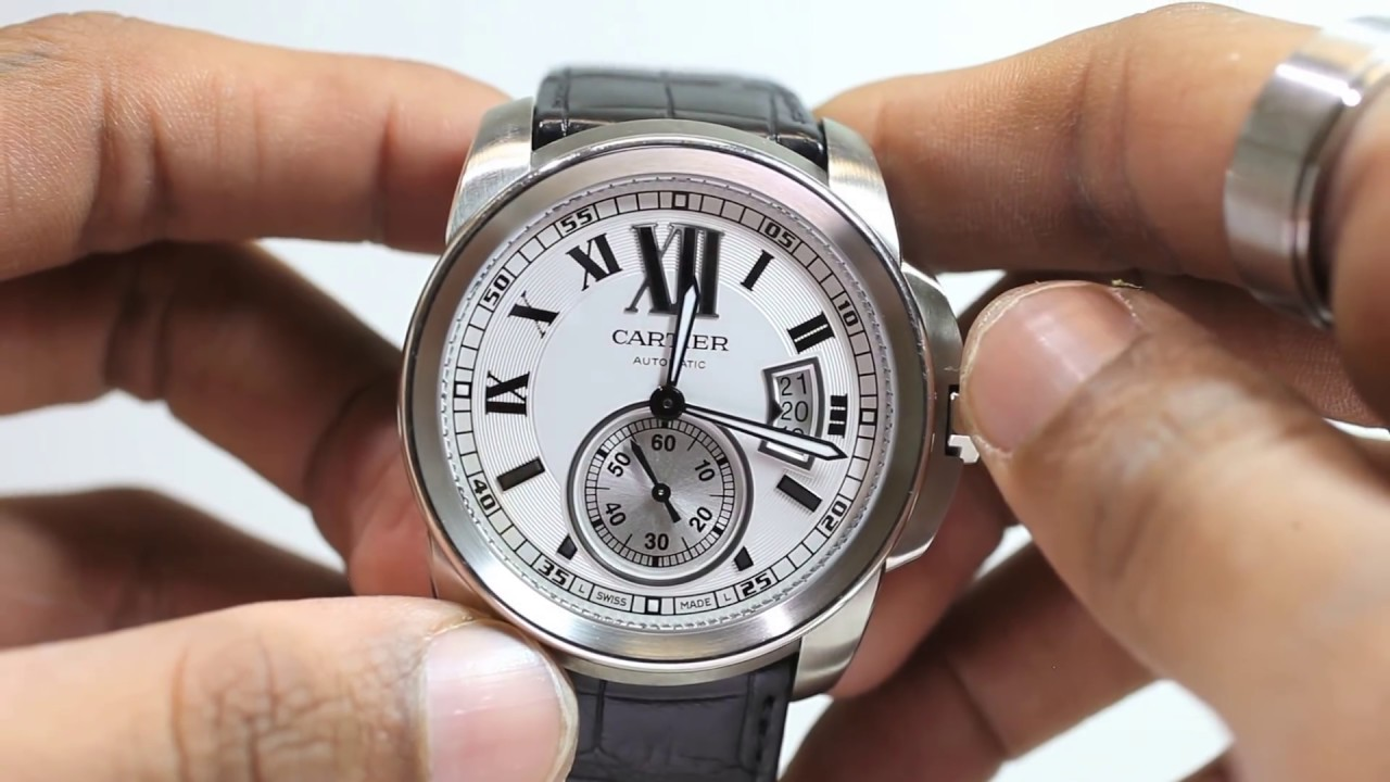 086f99ecc8e Cartier Calibre de W7100041 Stainless Steel Automatic Men s Watch for Sale  - Chronostore.com