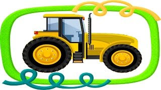сервис ТРАКТОРА. машинки - игры мыть машины. мультик для детей