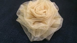 How to make a flower with cloth (in HINDI)