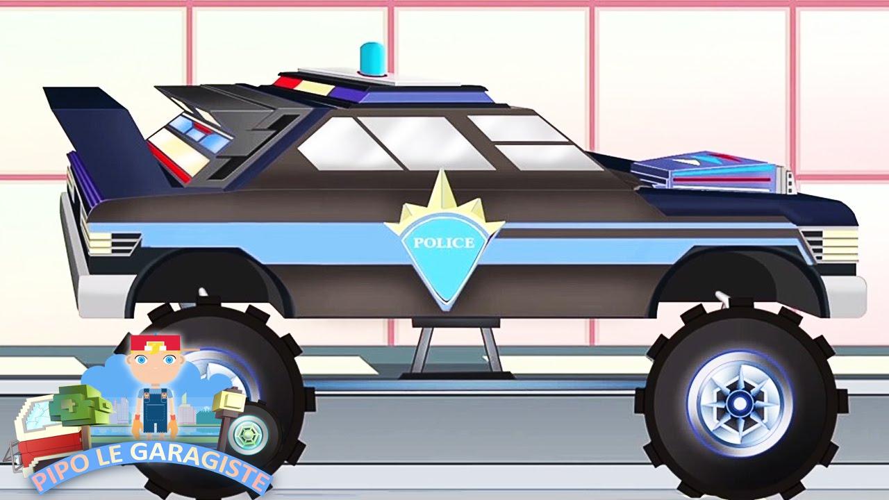 Voiture de police pipo et sa d panneuse dessin anim en fran ais comme minecraft youtube - Voiture police dessin anime ...