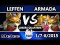 Paragon 2015 - Leffen (Fox) Vs. [A] Armada (Peach, Fox) SSBM Losers Quarters - Melee