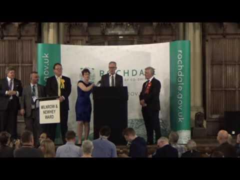 Rochdale - General Election Declaration