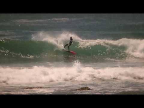 Robyn van der Merwe surfing Jeffreys Bay