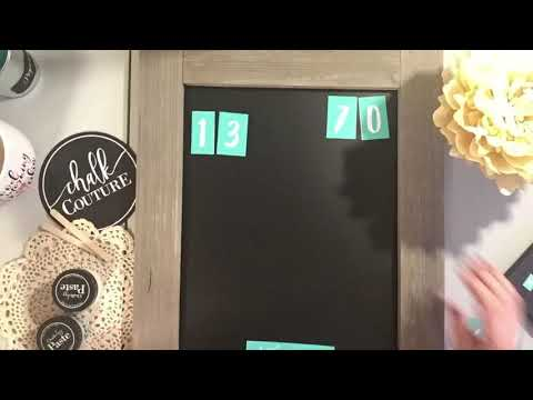 Personalized Family Chalkboard Sign