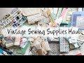 Estate Sale Haul - Buttons, Lace, and Vintage Notions!