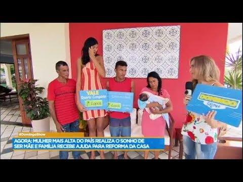 Mulher mais alta do Brasil ganha ajuda para cuidar do filho recém-nascido