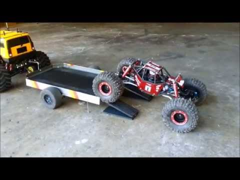 custom made rc trailer for my E-maxx hummer