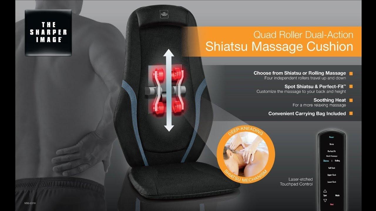 Sharper Image Massage Chairs White Wicker Rocking Chair Outdoor The Massaging Cushion Msg C210c Quad Roller Youtube Premium