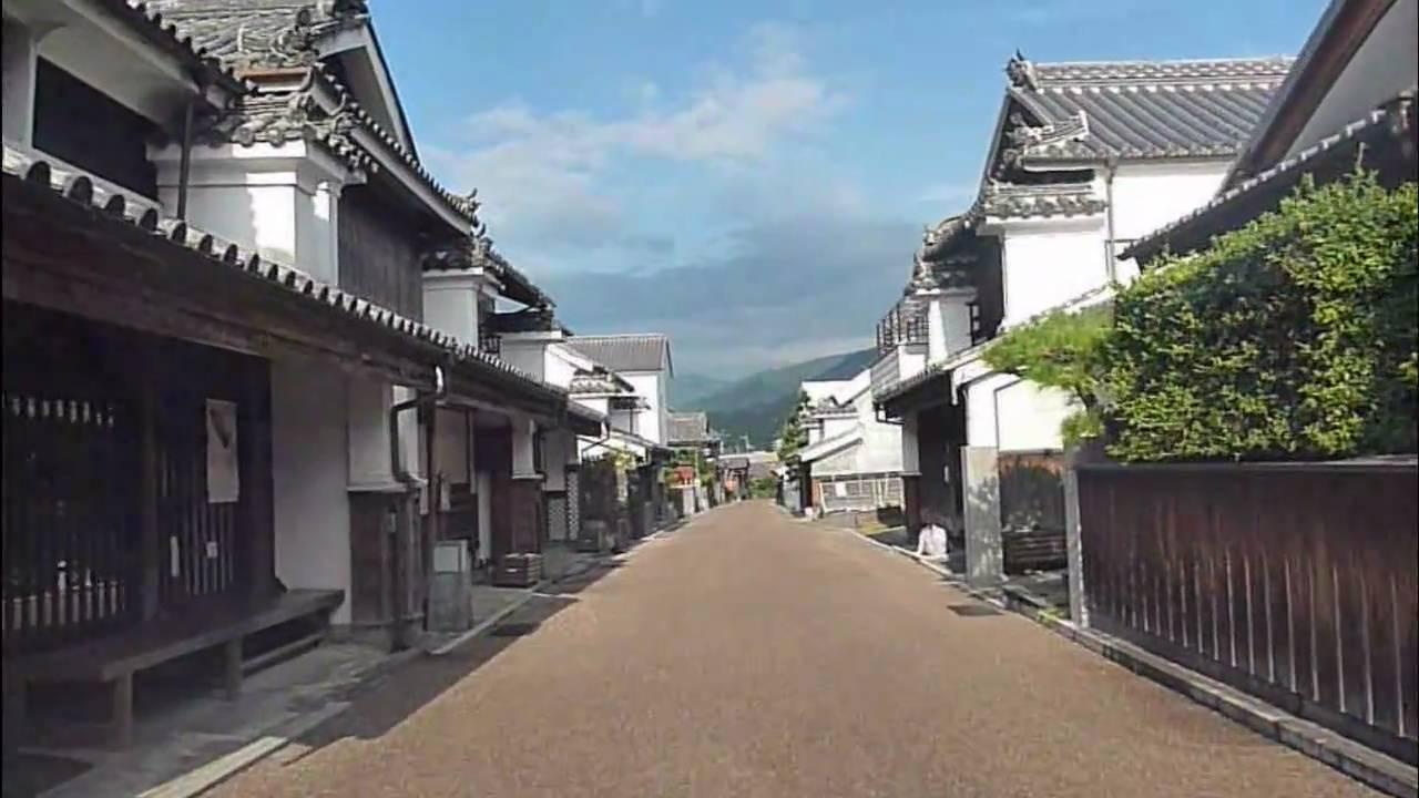 脇町うだつの町並み (車載カメラ・徳島県美馬市脇町) - YouTube