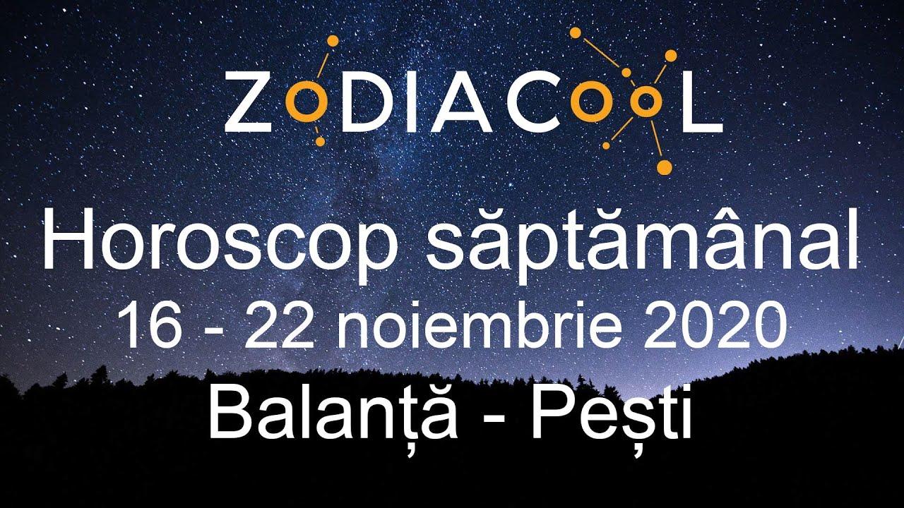Horoscop saptamana 16 - 22 Noiembrie 2020 pentru Balanta - Pesti, oferit de ZODIACOOL