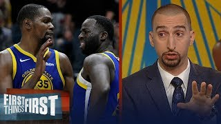 Nick Wright believes Draymond Green 'crossed the line' with Kevin Durant | NBA | FIRST THINGS FIRST