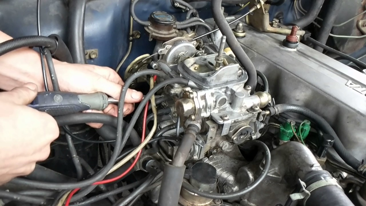Mazda 323 Wiring Diagram 6 Chromosomes Crossing Over 22r How To Adjust Aisin Carburetor (throttle & Fuel Adjustment Locations) - Youtube
