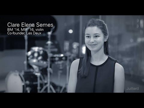 Juilliard Snapshot: Clare Elena Semes on Hire Juilliard Performers