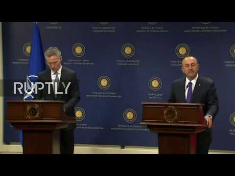 Live: Stoltenberg and Cavusoglu meet in Ankara: joint press conference