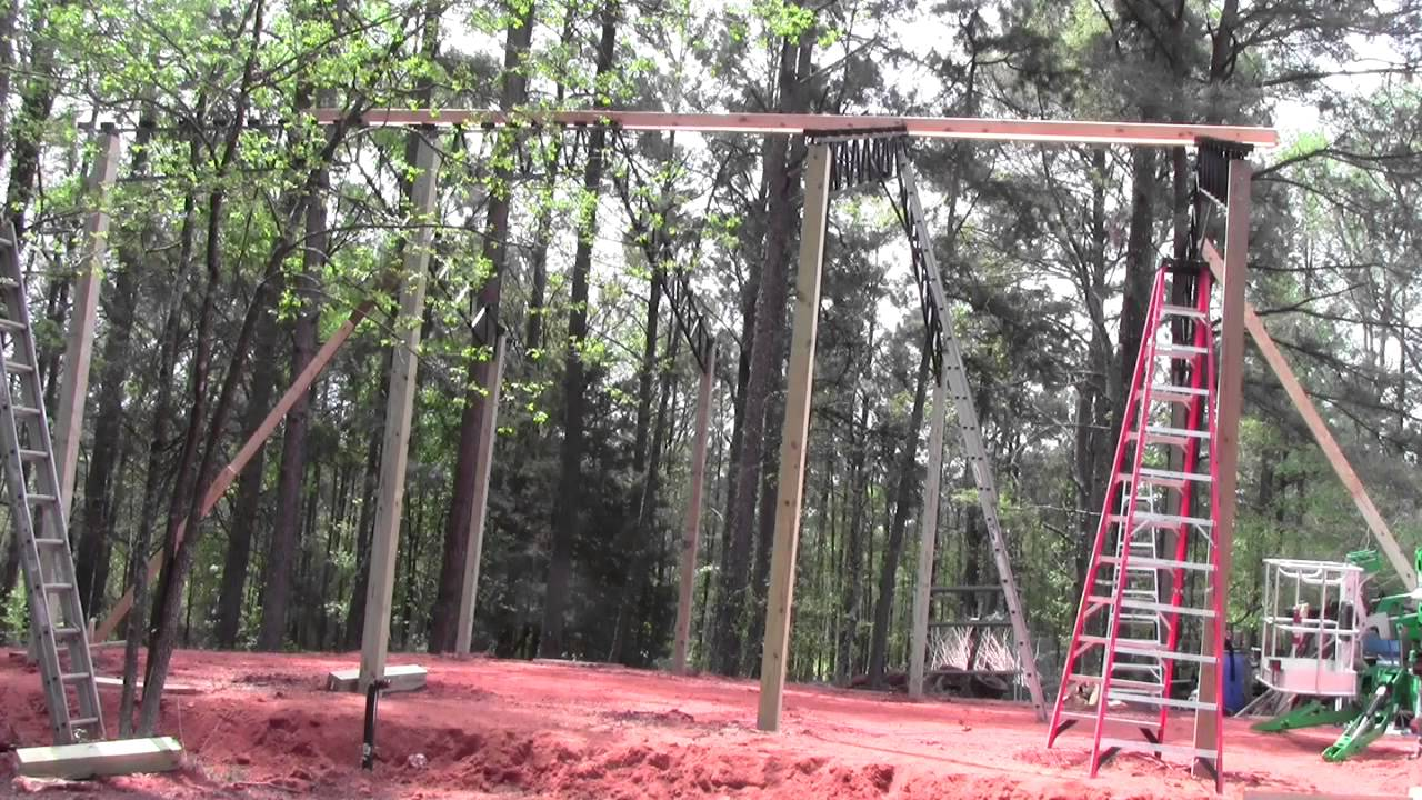 Fast install 30x30 open steel truss pole barn full video for 30x30 pole building