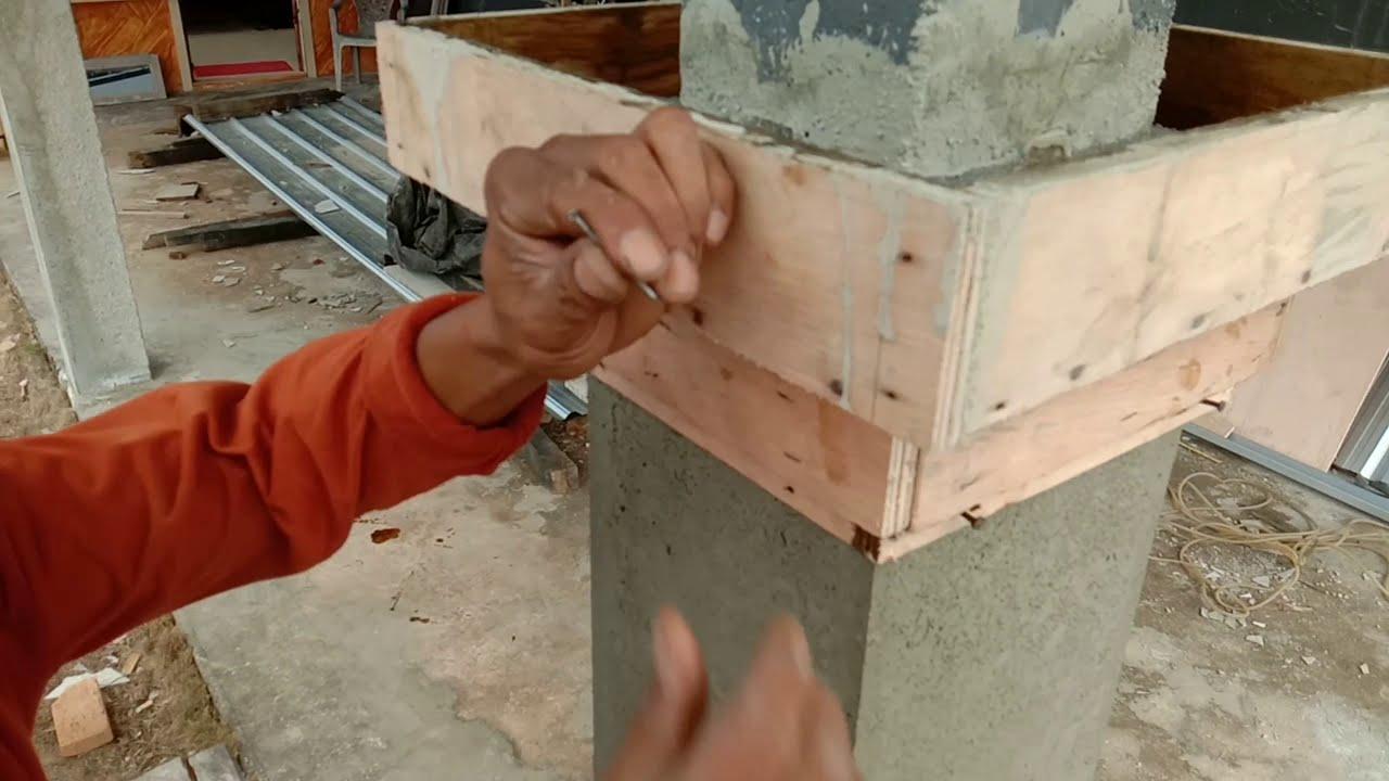 Renovasi pilar teras/merubah bentuk  aslinya