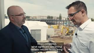 Tramvajové Depo Slovany – Stavba nového depa se zelenou střechou