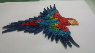 Paper Quilling - Quilling Parrot Colorful