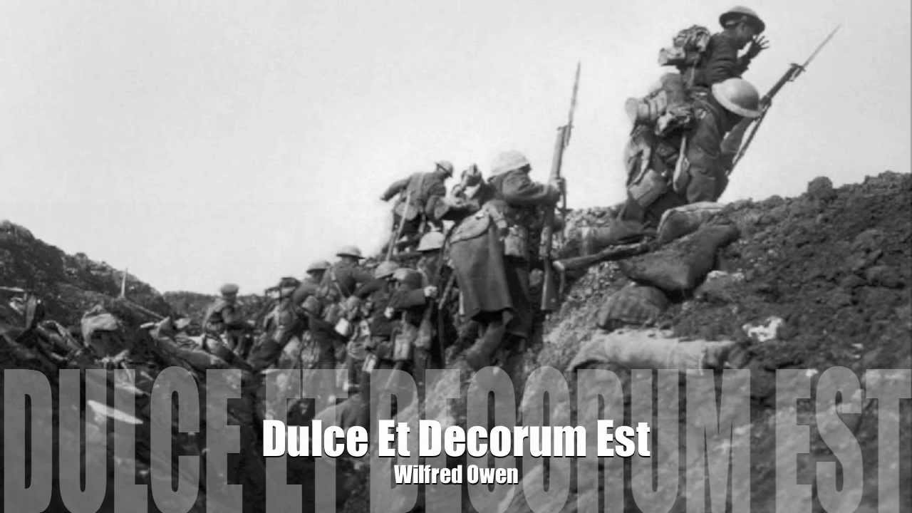 opinion for dulce et decorum est The charge of the light brigade and ducle et decorum est in both the charge of the light brigade and dulce et decorum est the poets write got an opinion.