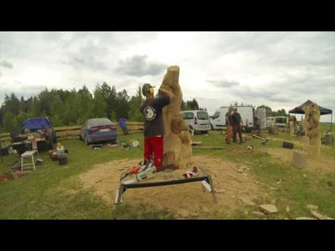 Open Chainsaw Carving Competition in Lithuania