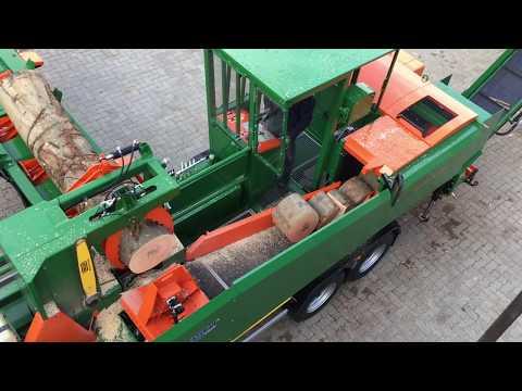 Mobile Brennholzaufbereitung mit