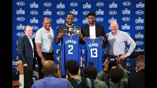 Los Angeles Clippers Introduce Kawhi Leonard & Paul George   Full Press Conference Part 1